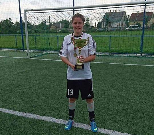 Bihoreanca Domjan Boglarka, cea mai bună jucătoare de fotbal feminin a anului 2016 din Ungaria